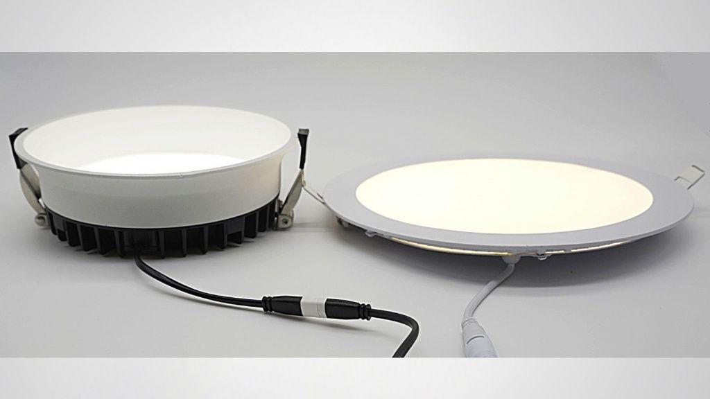 Сuvette в сравнении со светильником с источником света заподлицо